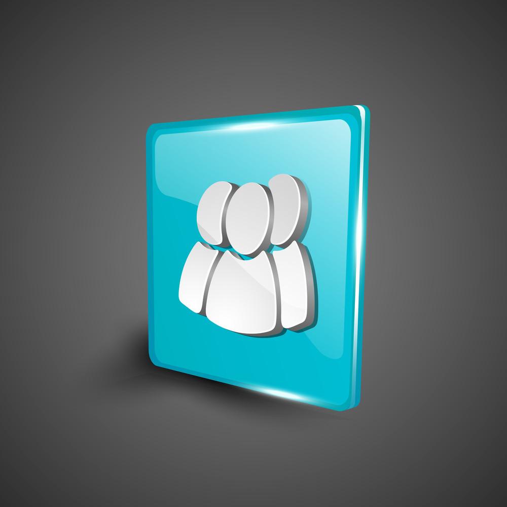 Web Users Symbol Icon Set.