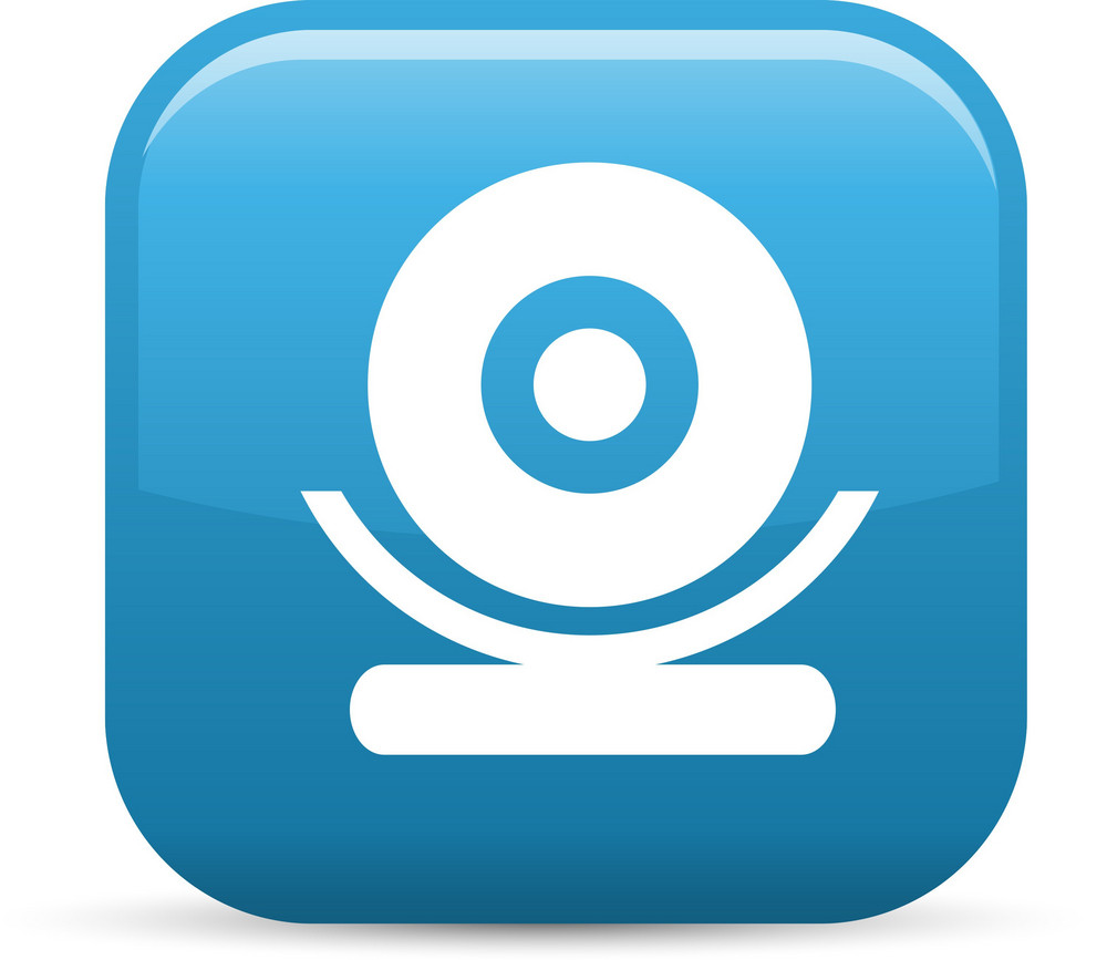 Webcam Elements Glossy Icon