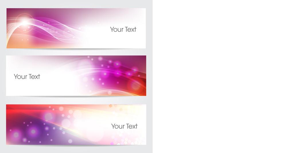 Website Banner Or Header Set With  Floral.
