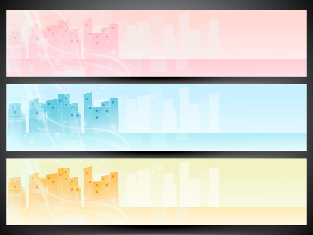 Website Banner Or Header Set.