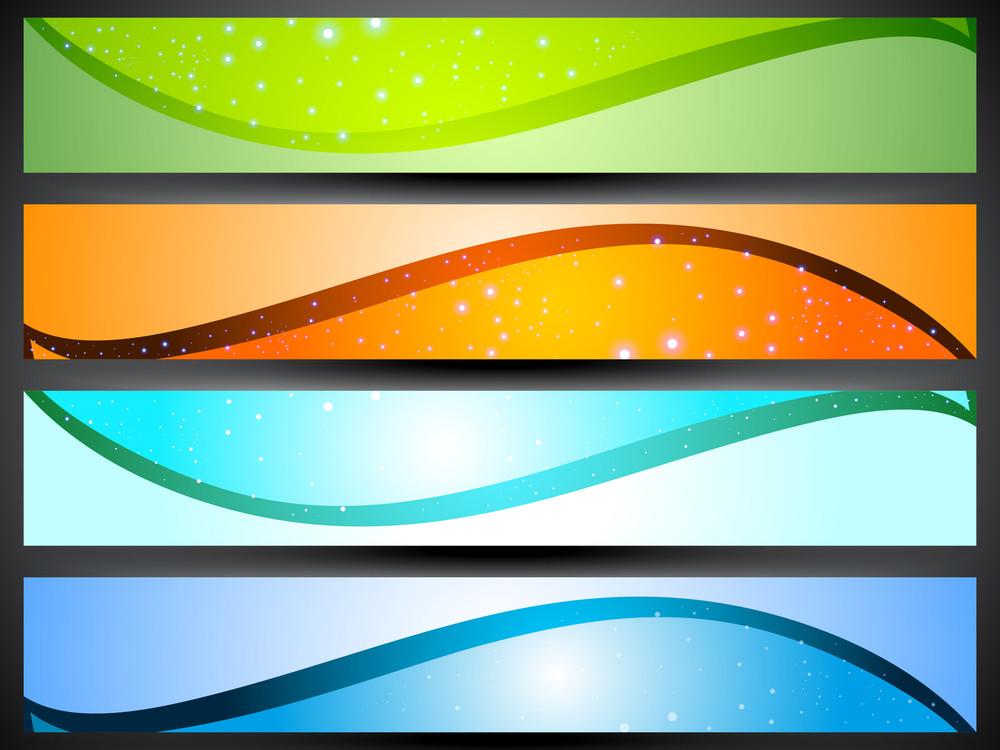 Website Banner Or Header Set.
