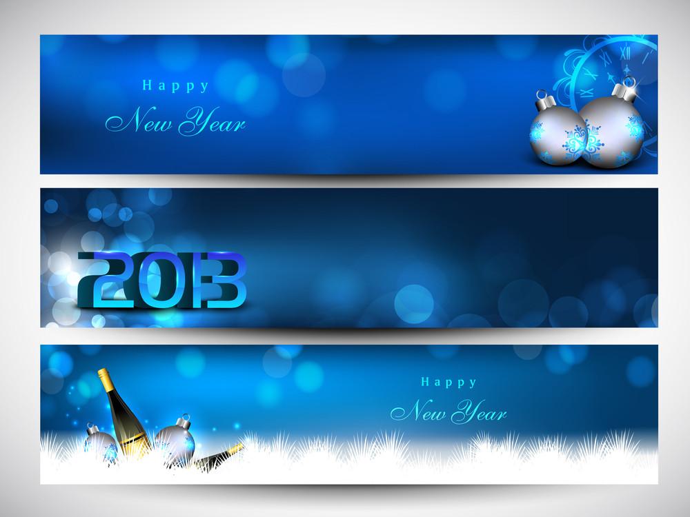 Website Header Or Banner Set Decorated With Evening Balls