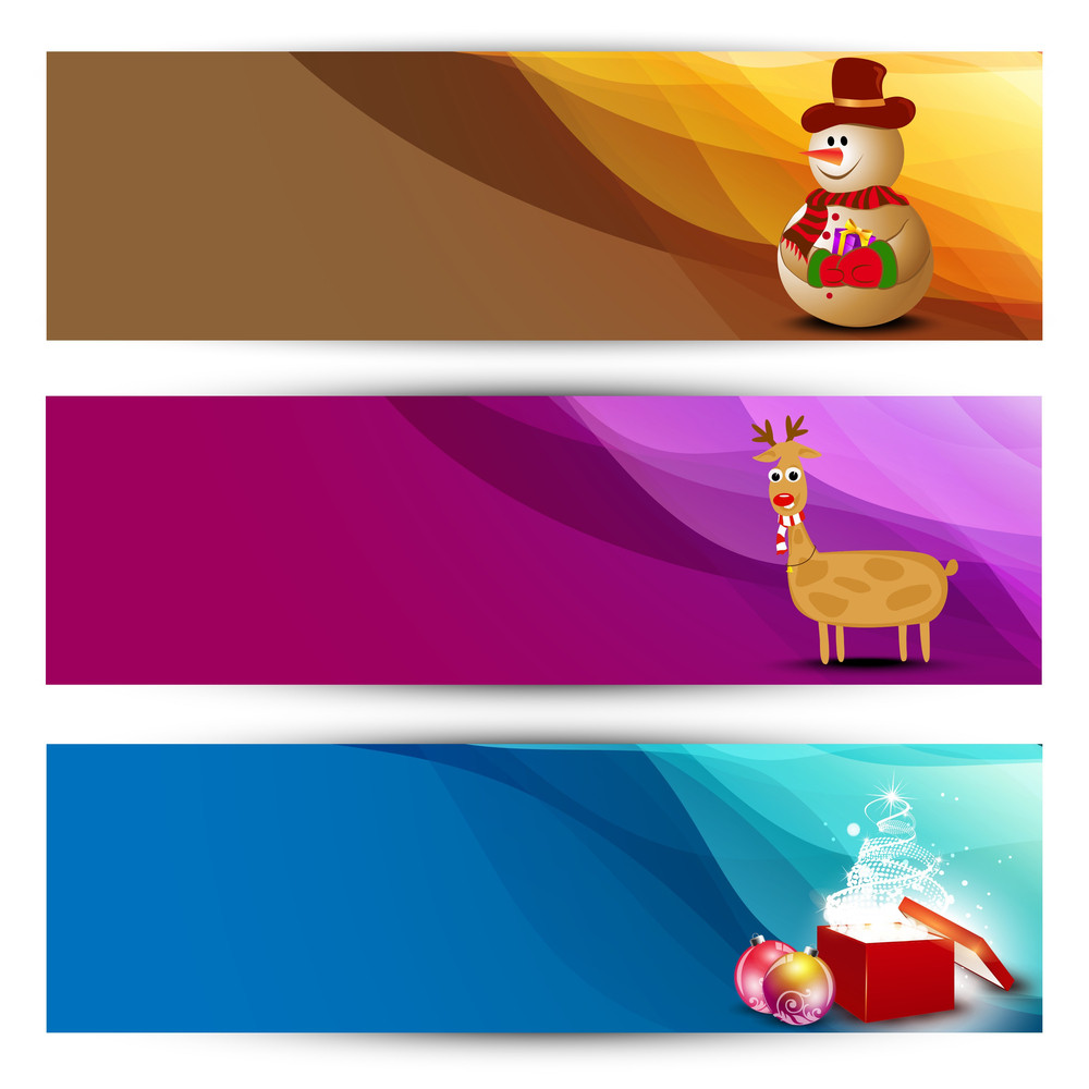 Website Headers Or Banners For Christmas Celebration