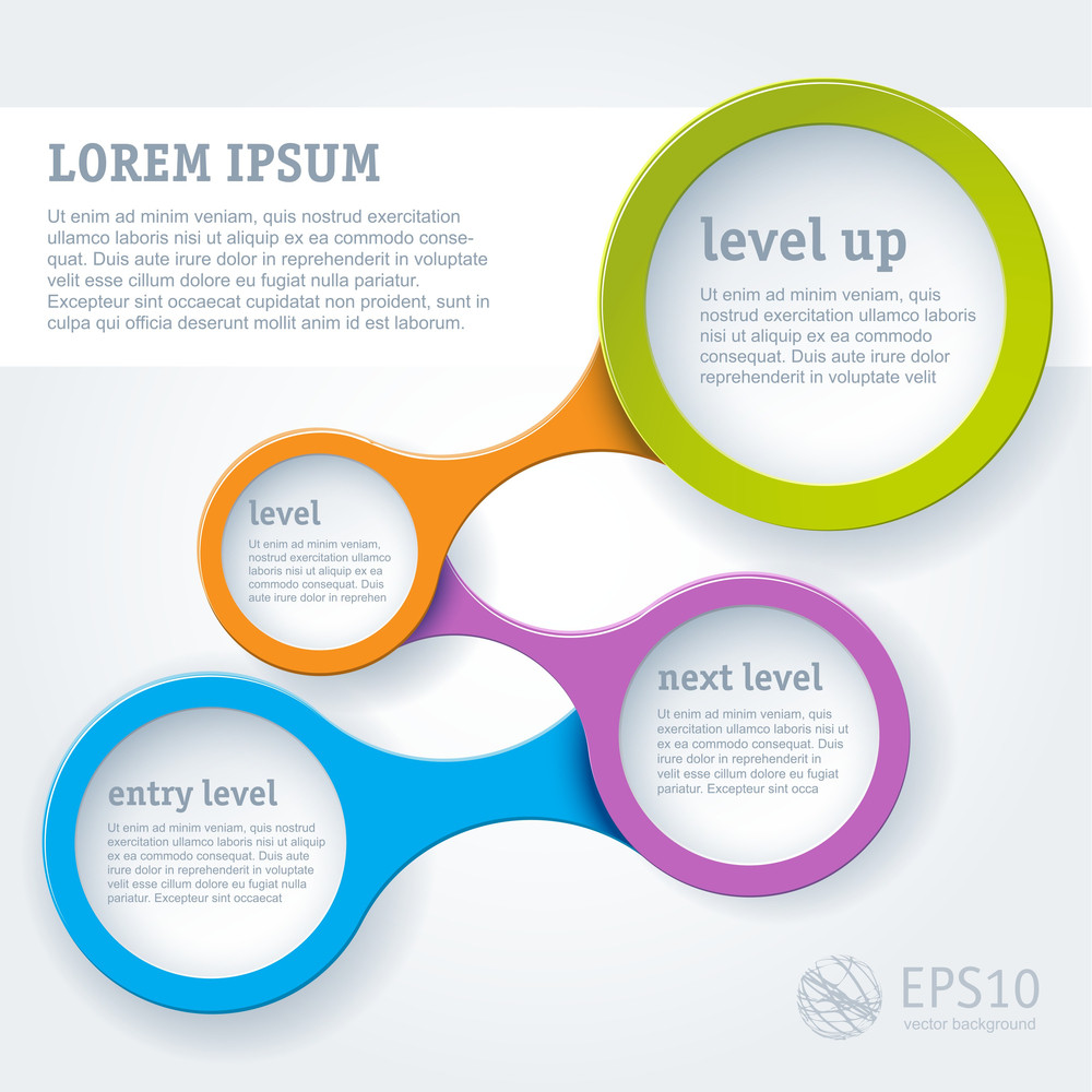 Website Infographic Loop Template Vector Design Frame Royalty Free