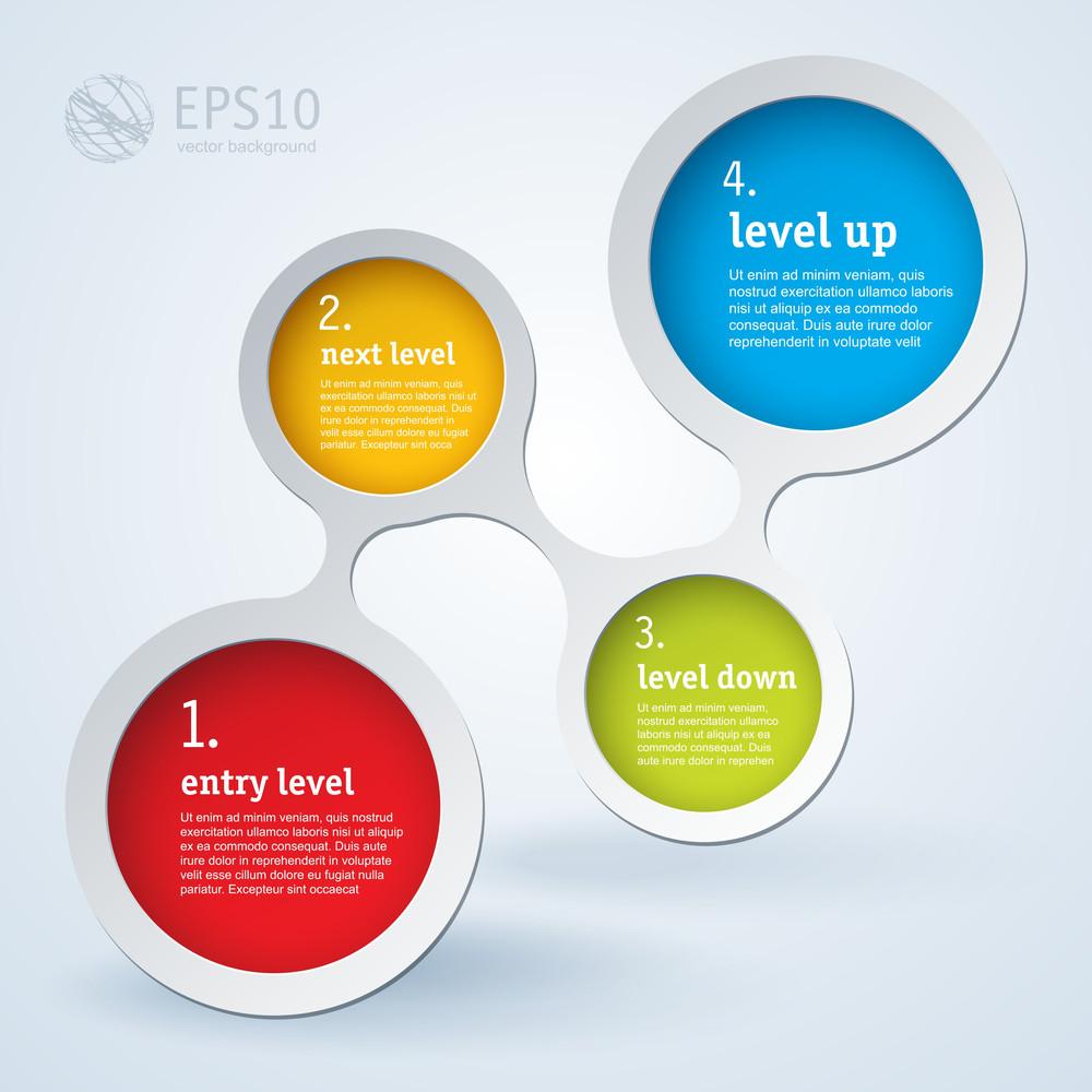 Website Infographic Loop Template, Vector Design Frame.