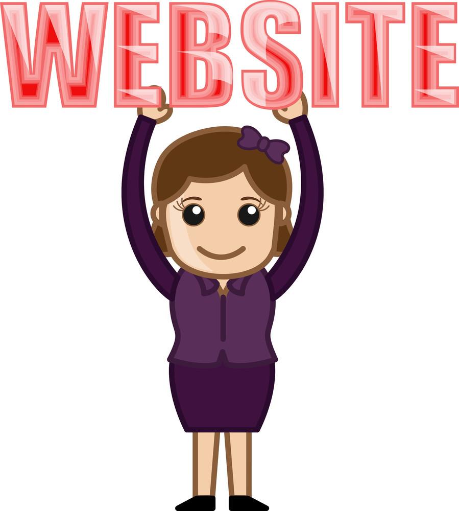 Website Text - Cartoon Vector
