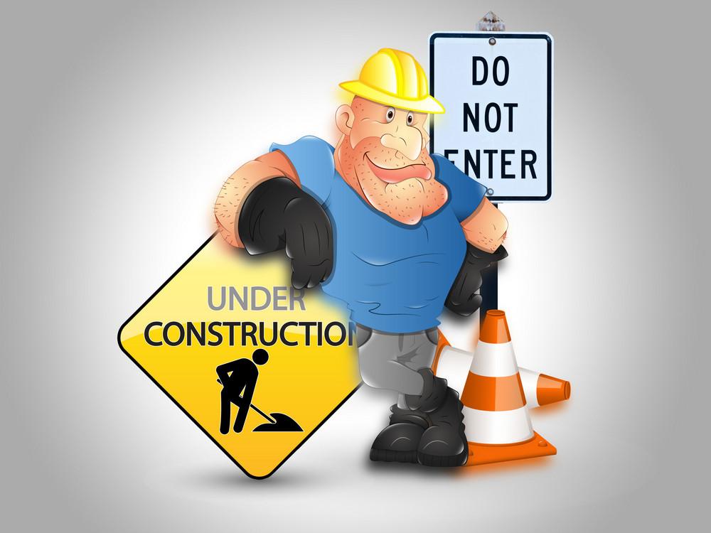 Website Under Construction Vector Background
