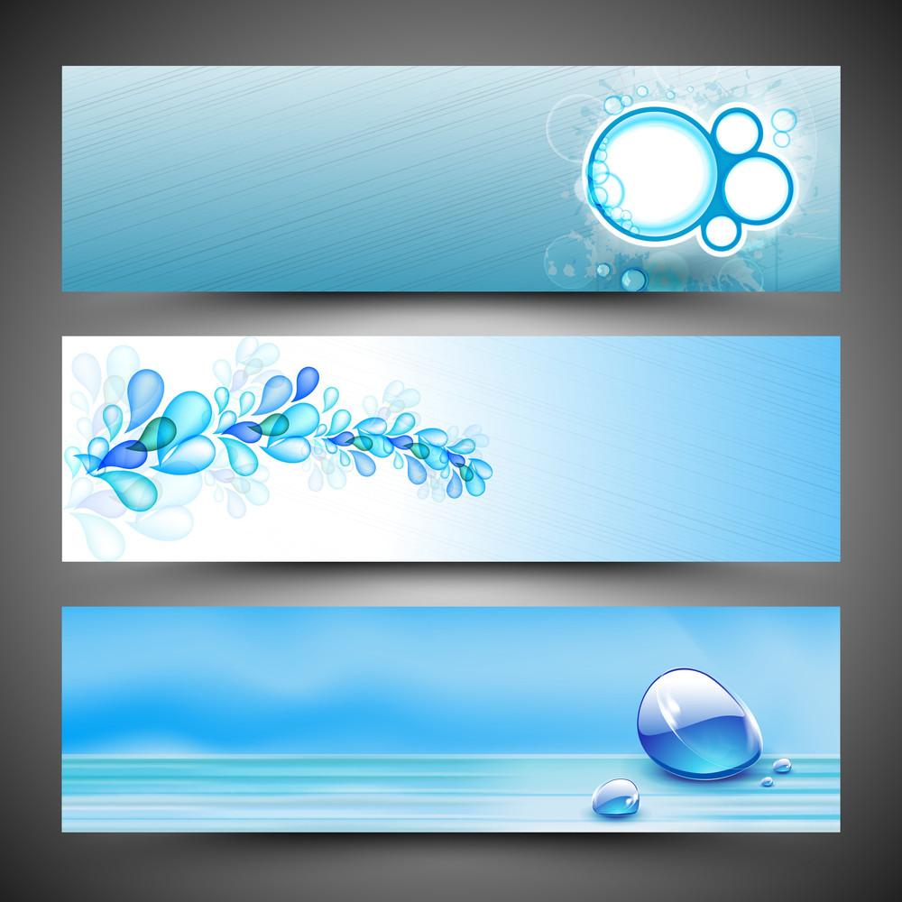 Free banner images for website - Website Water Header Or Banner Set