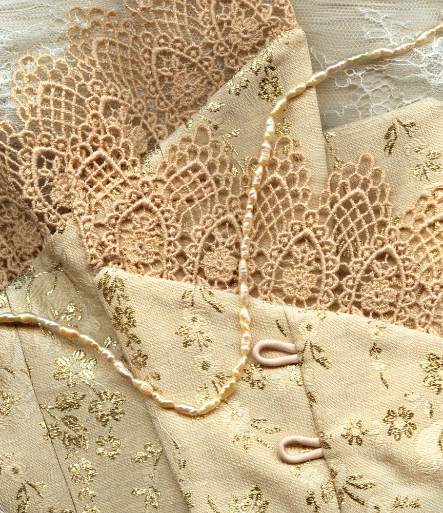 Wedding Background (corset And Peals)