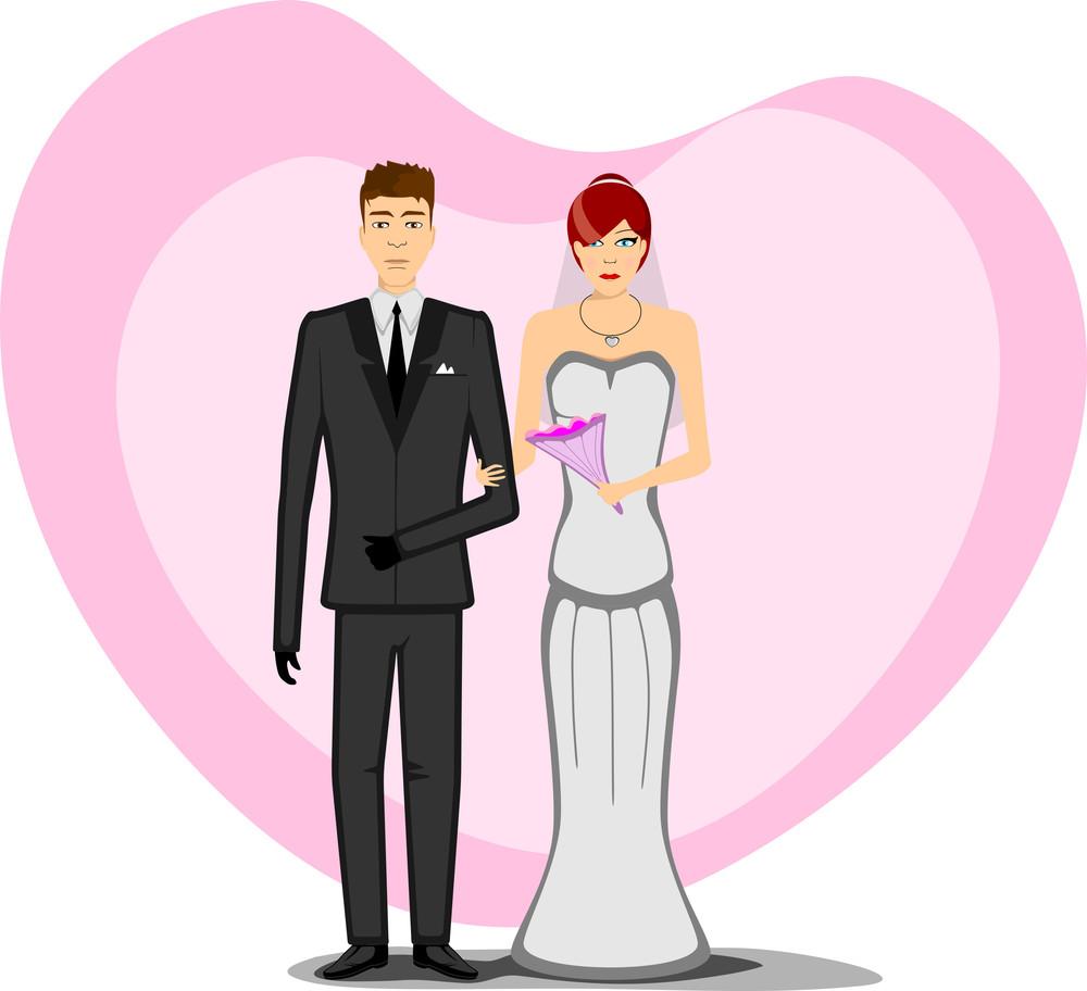 Wedding Bridal Couple.