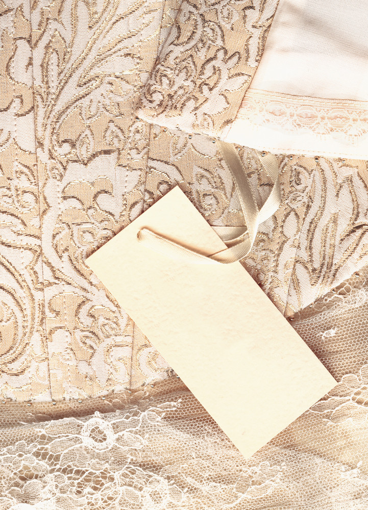 Wedding Dress With Business Card
