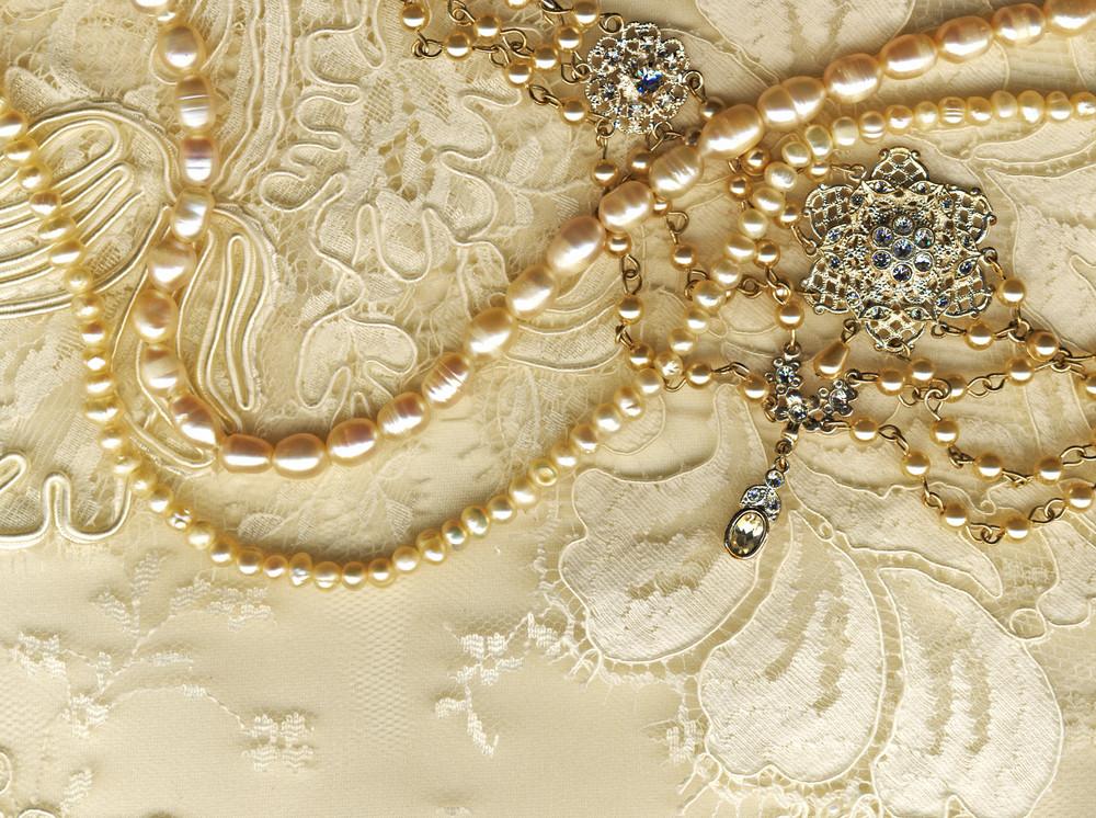 婚禮靜物布里德的珠寶