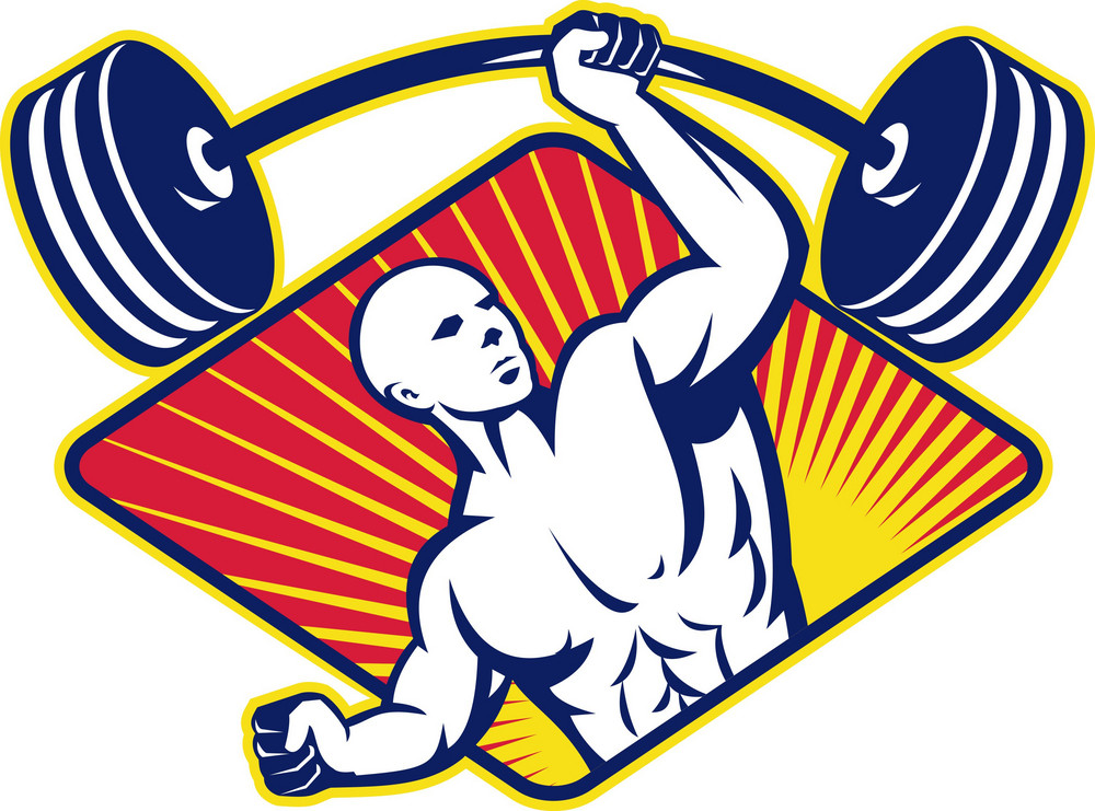 Weight Lifter Body Builder Lifting Barbell