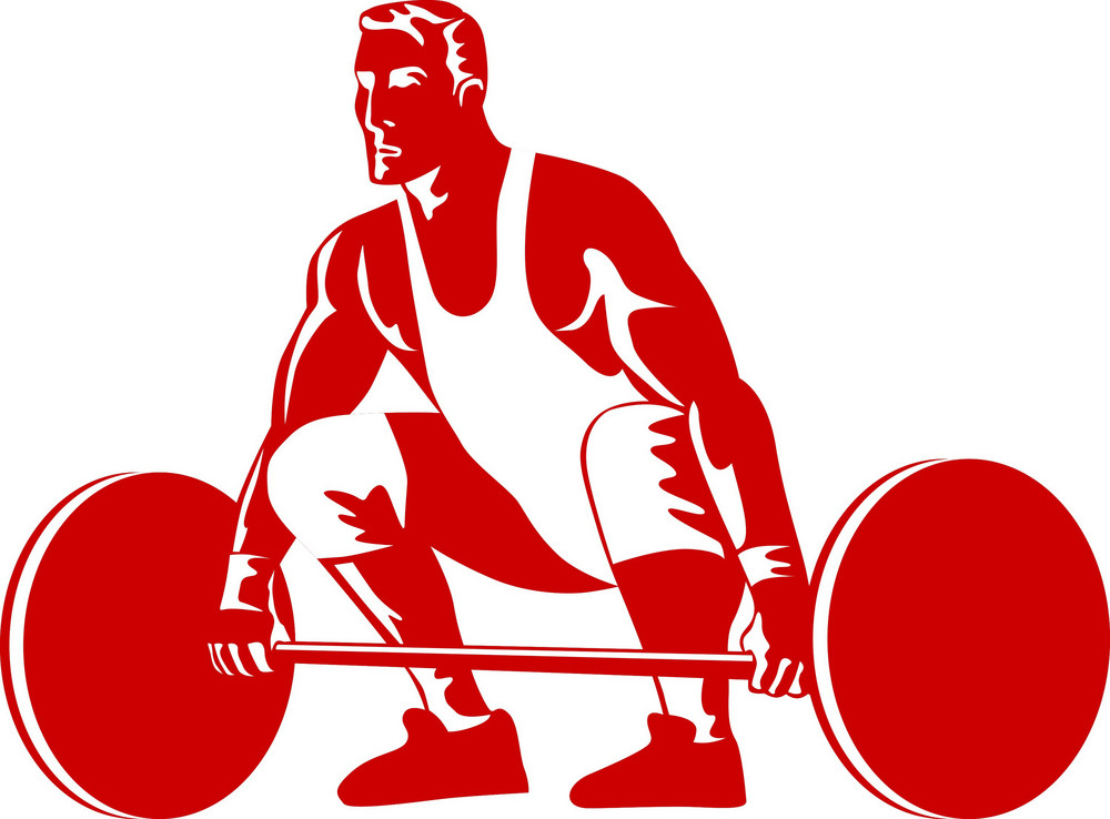Weightlifter Preparing To Lift Weights