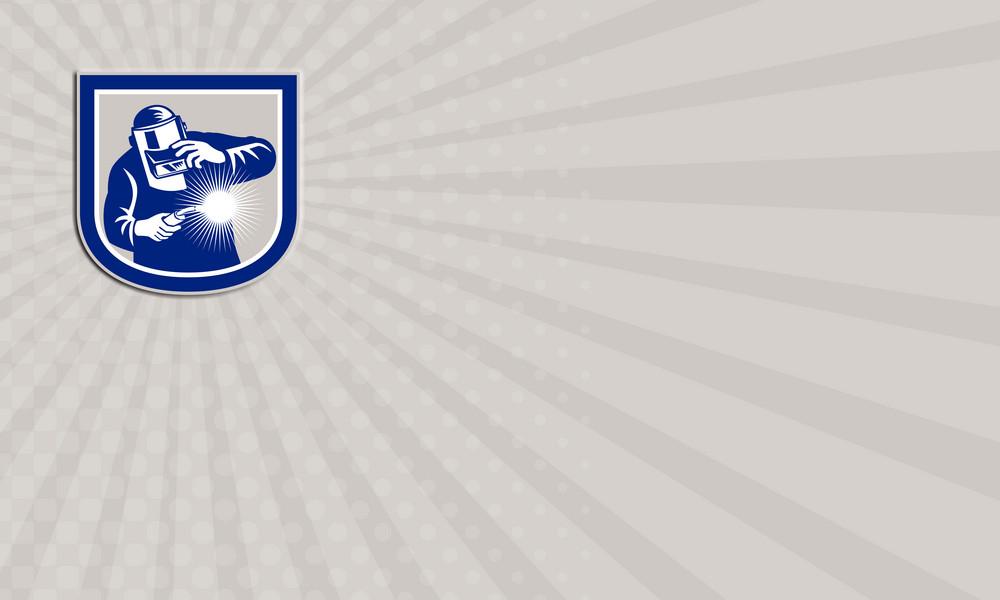 Welder Welding Torch Front Shield Retro Business Card Royalty-Free ...