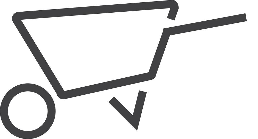 Wheeibarrow Minimal Icon