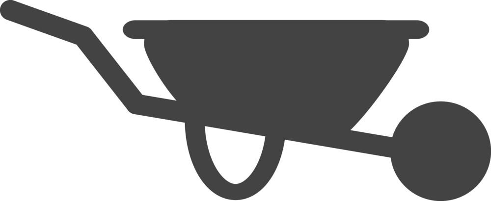 Wheelbarrow Glyph Icon
