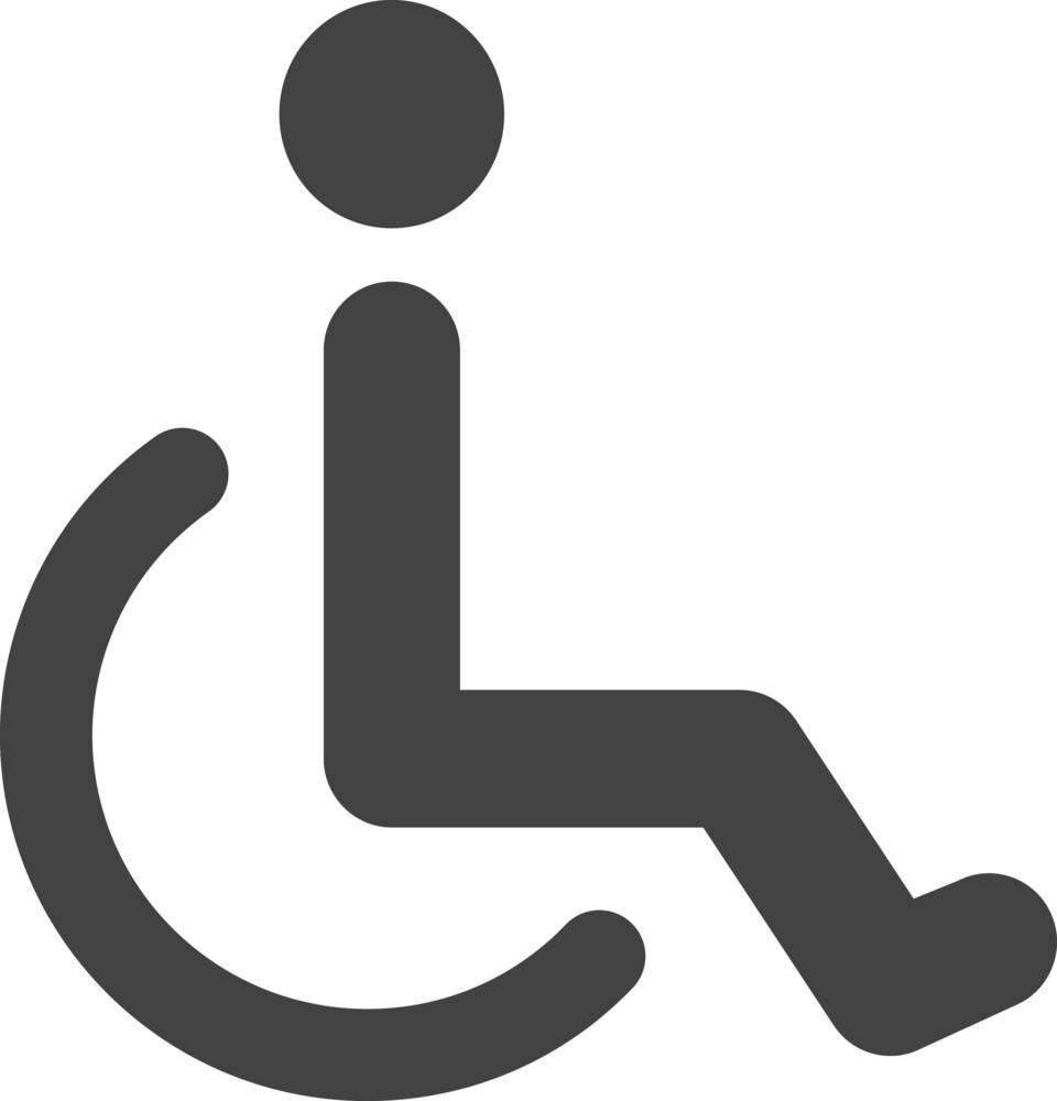 Wheelchair Glyph Icon
