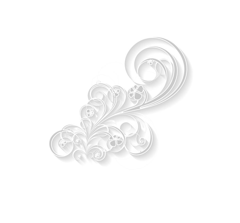 White 3d Style Floral Design
