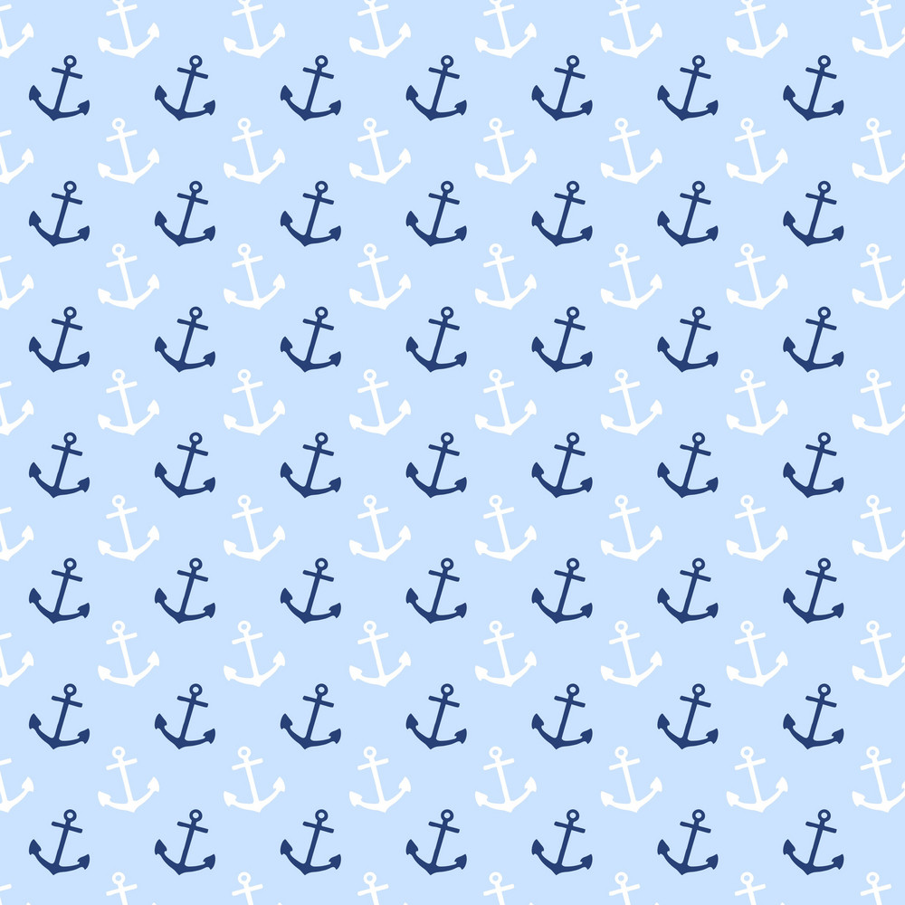 White And Blue Anchor Pattern Royalty-Free Stock Image ...