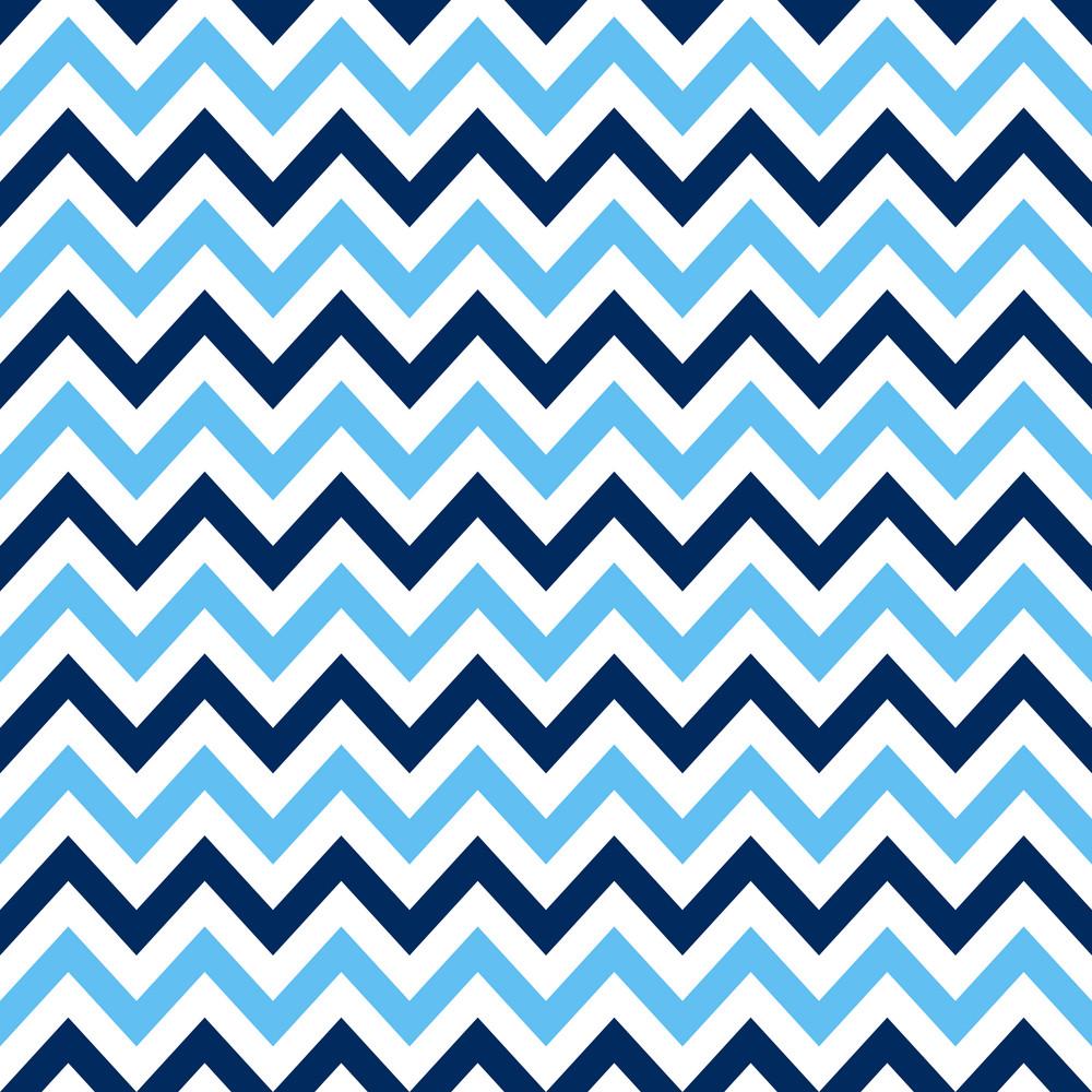 White And Blue Nautical Chevron Pattern