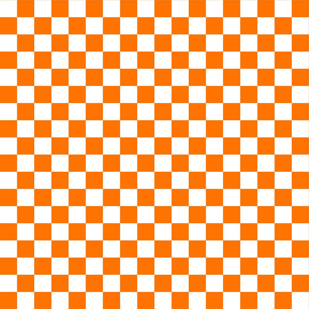 White And Orange Checkerboard Pattern
