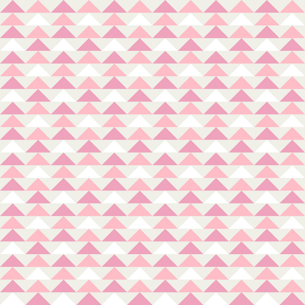 White And Pink Triangles Pattern