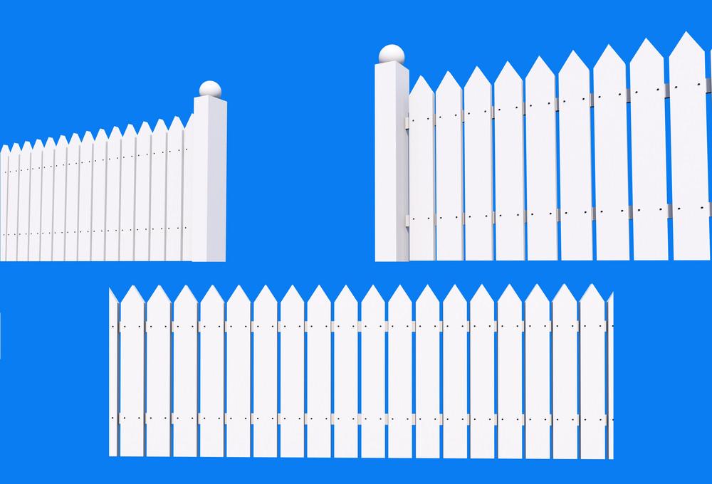 White Backyard Fence