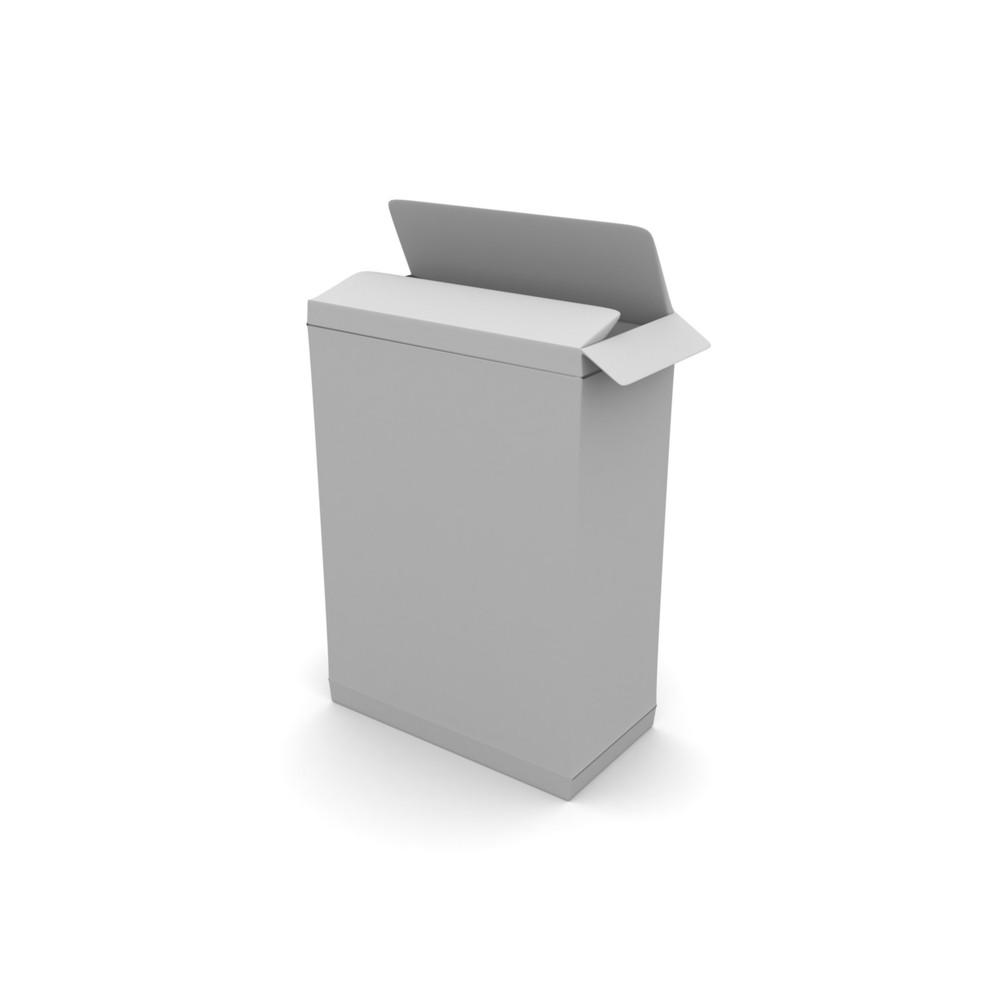 White Blank Box Illustration