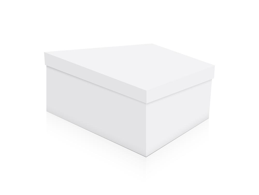 White Box Vector Shape
