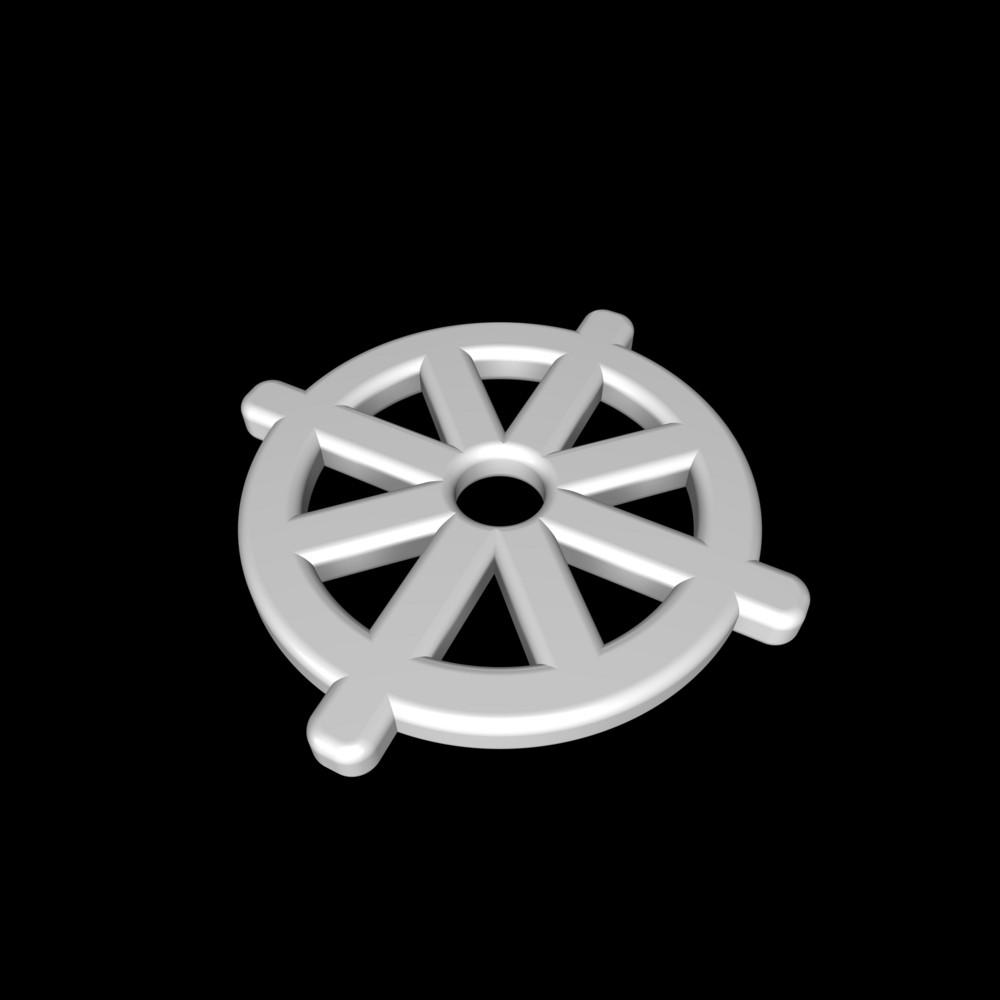 White Buddhism Symbol.