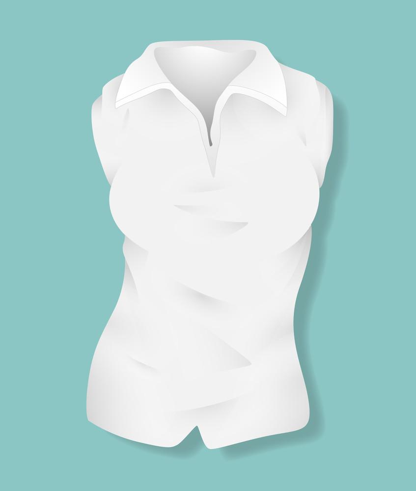White Female Shirt Design Vector Illustration Template