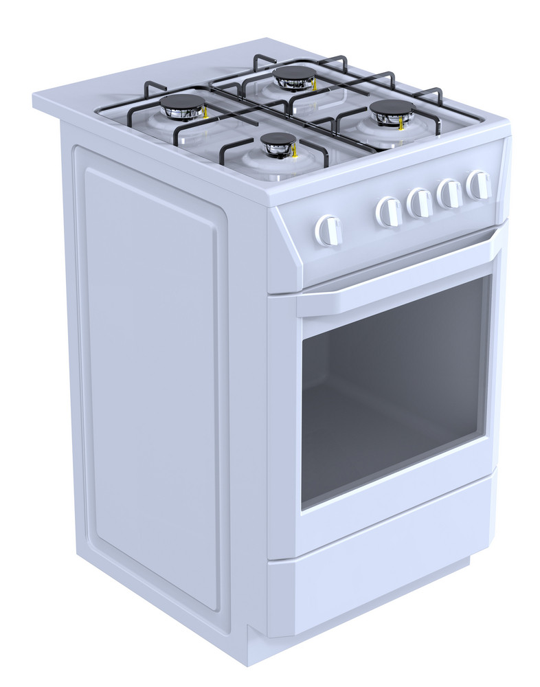 White Free Standing Cooker.