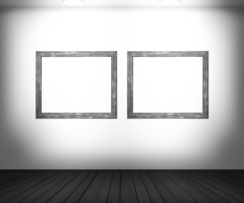 White Gallery Background