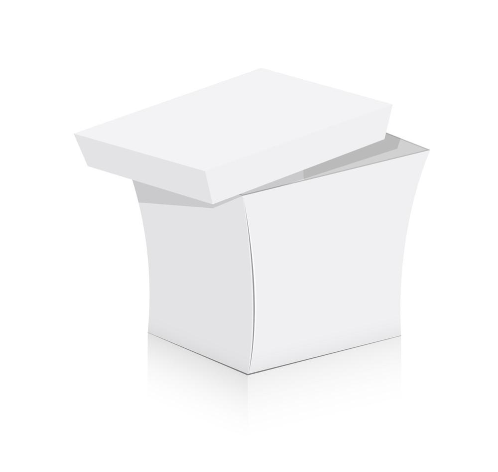 White Gift Box Vector