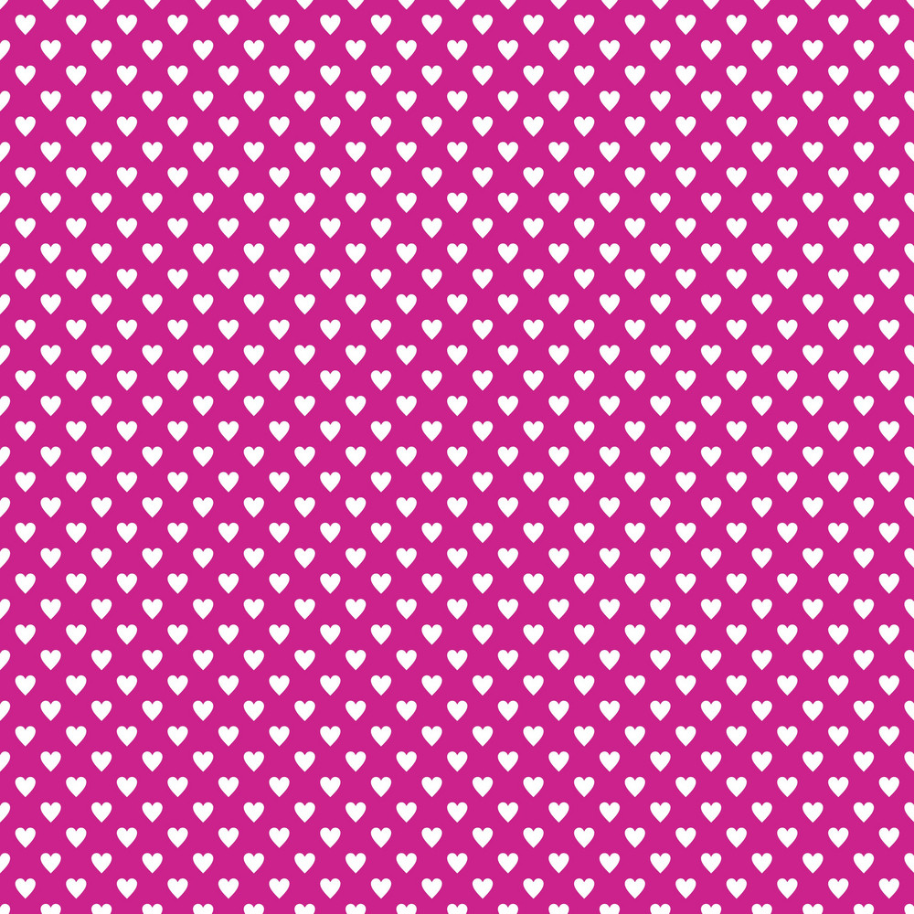 White Hearts Pattern On Purple Frozen Inspired Paper