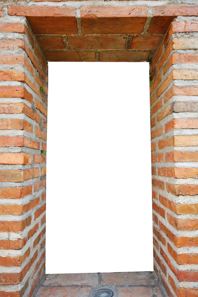 white hole in old wall, brick frame Royalty-Free Stock Image ...