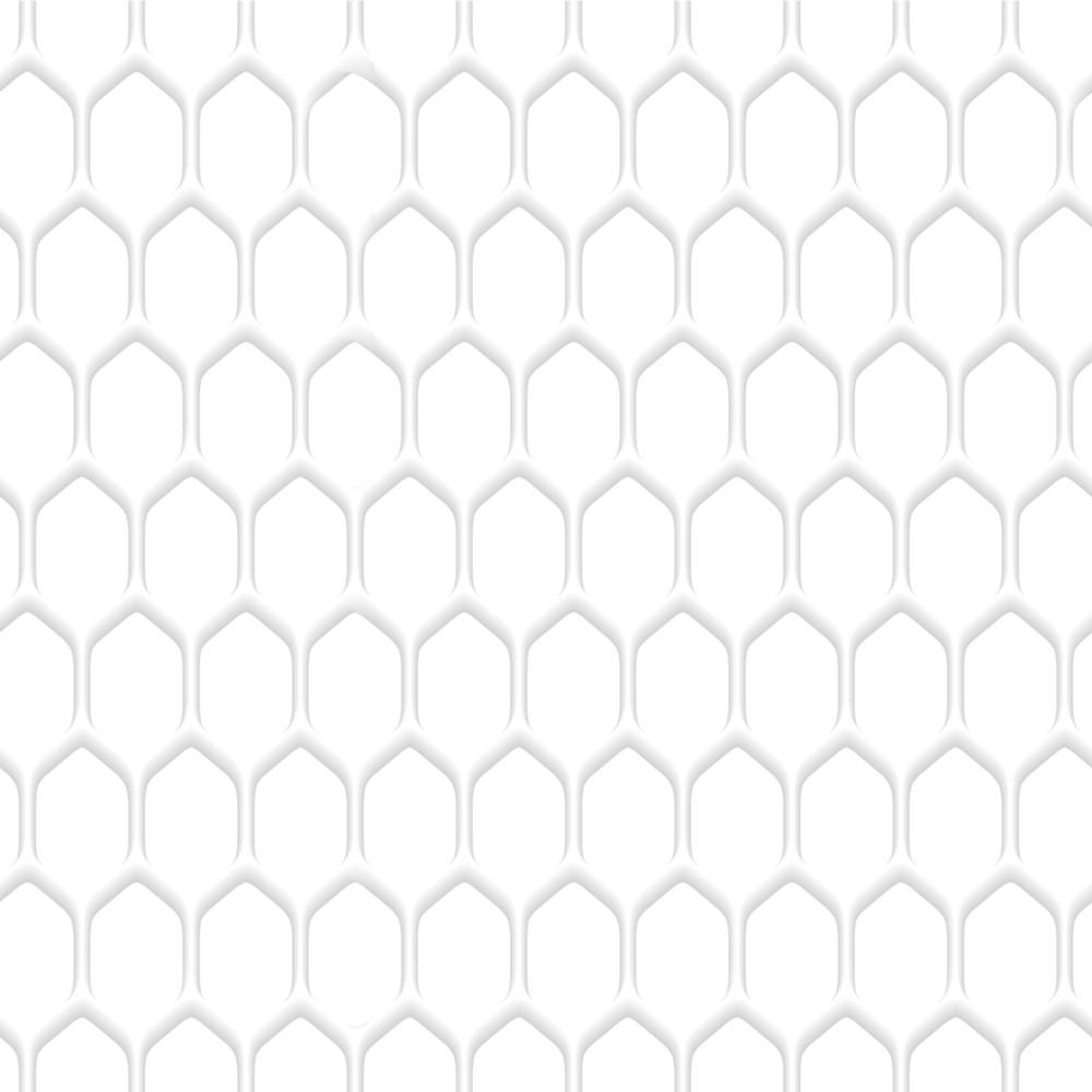 White Honeycomb Pattern Background