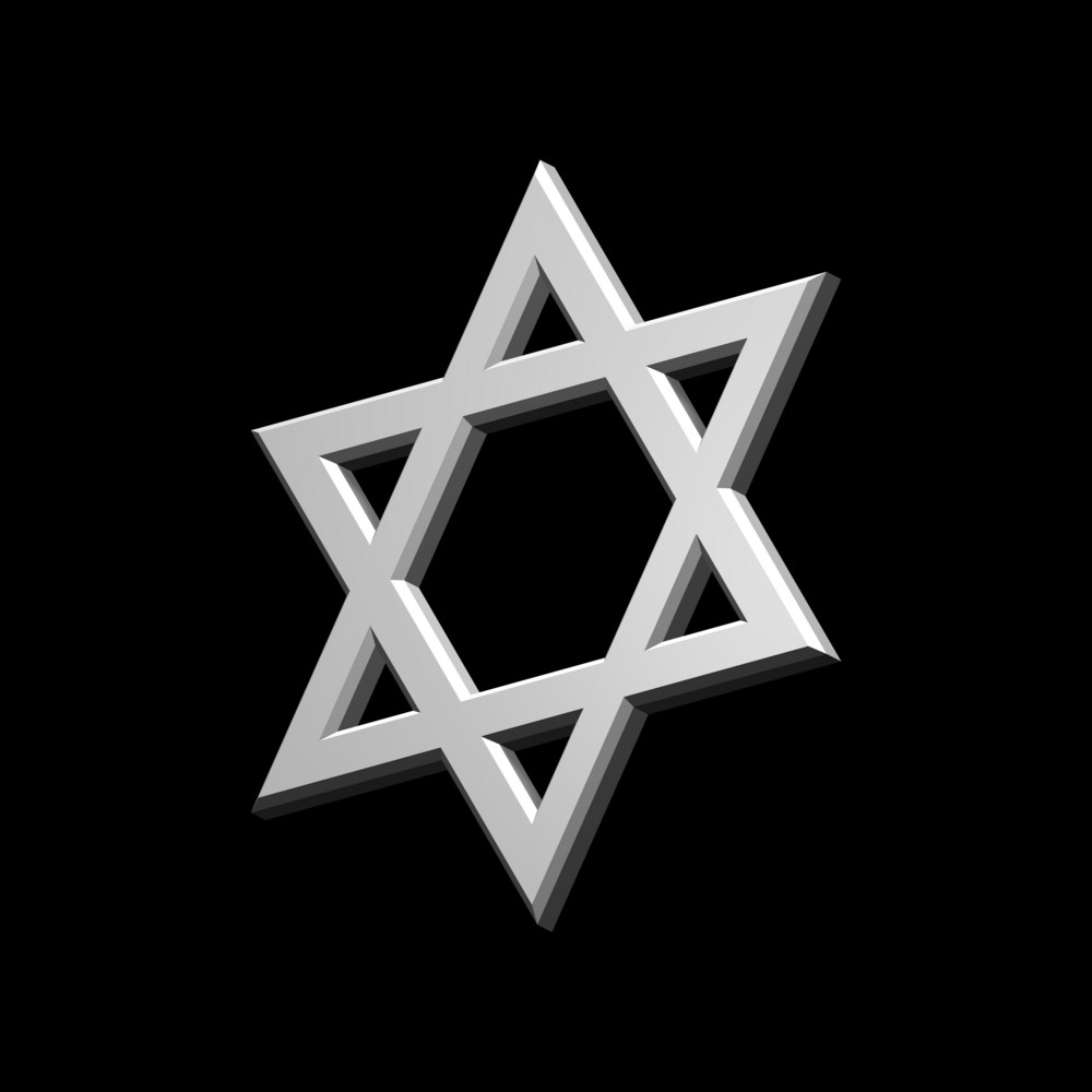 White judaism religious symbol star of david isolated on black white judaism religious symbol star of david isolated on black buycottarizona