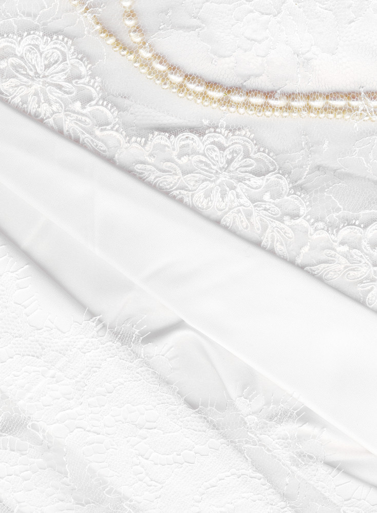 White Lace And Pearls For Abstract Background