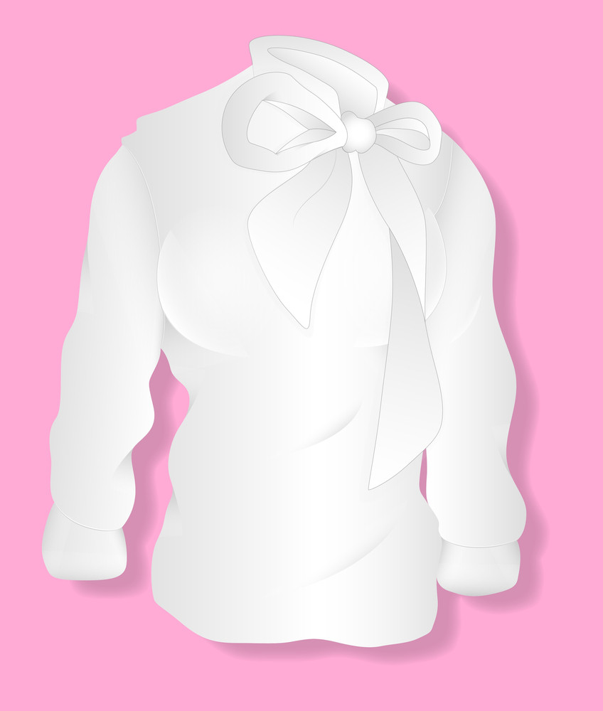 White Lady Shirt Design Vector Illustration Template