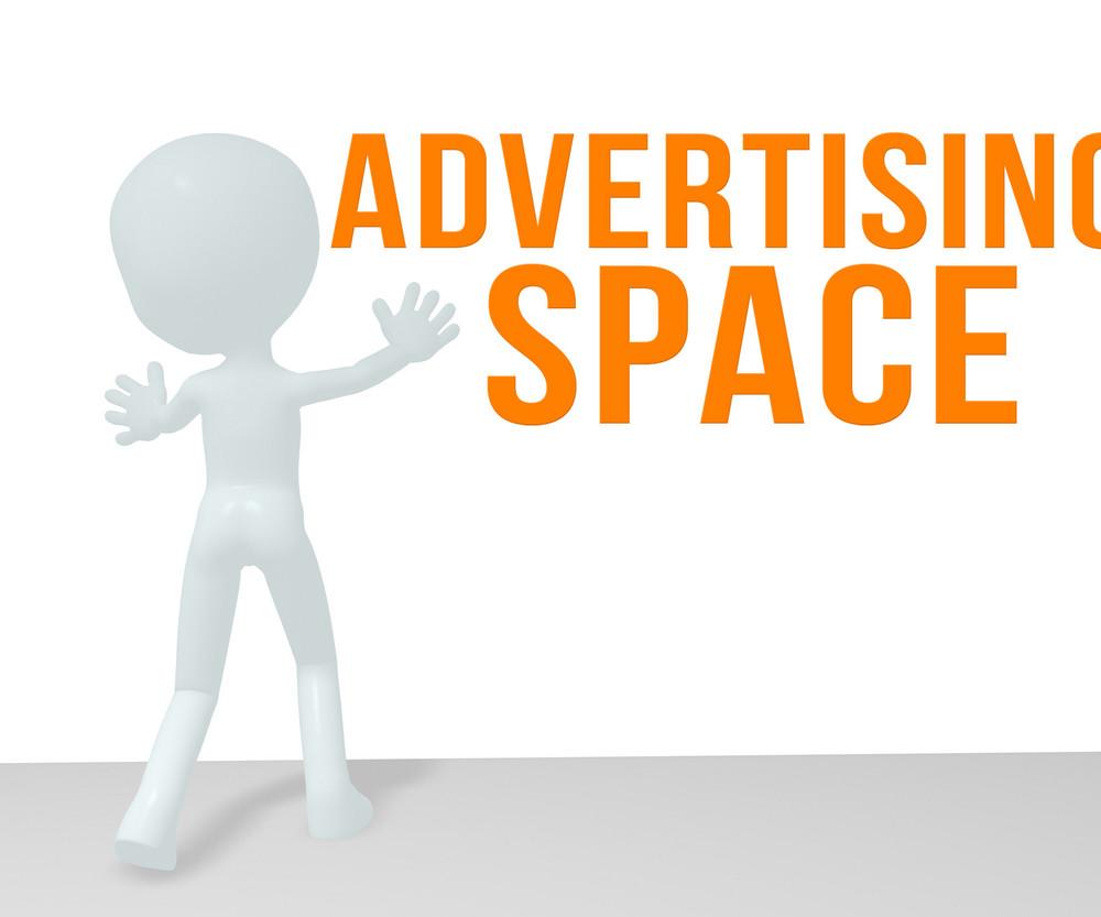 White Men Advertising Space