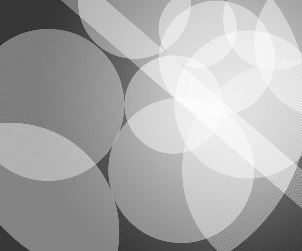 White Modern Circles Background