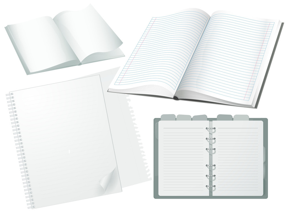 White Papers. Vector.