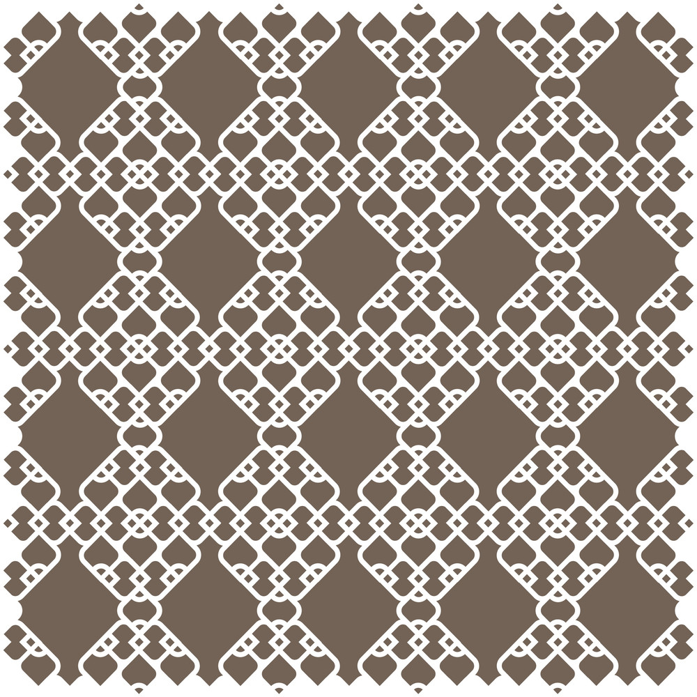 White Pattern In Islamic Style