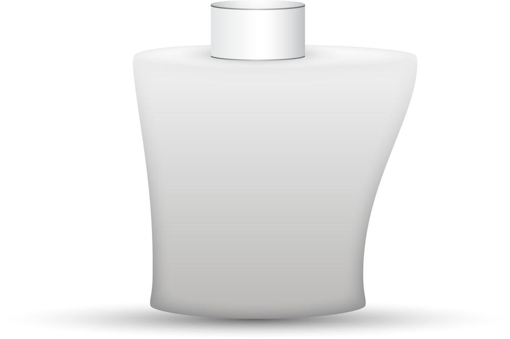 White Perfume Bottle Vector