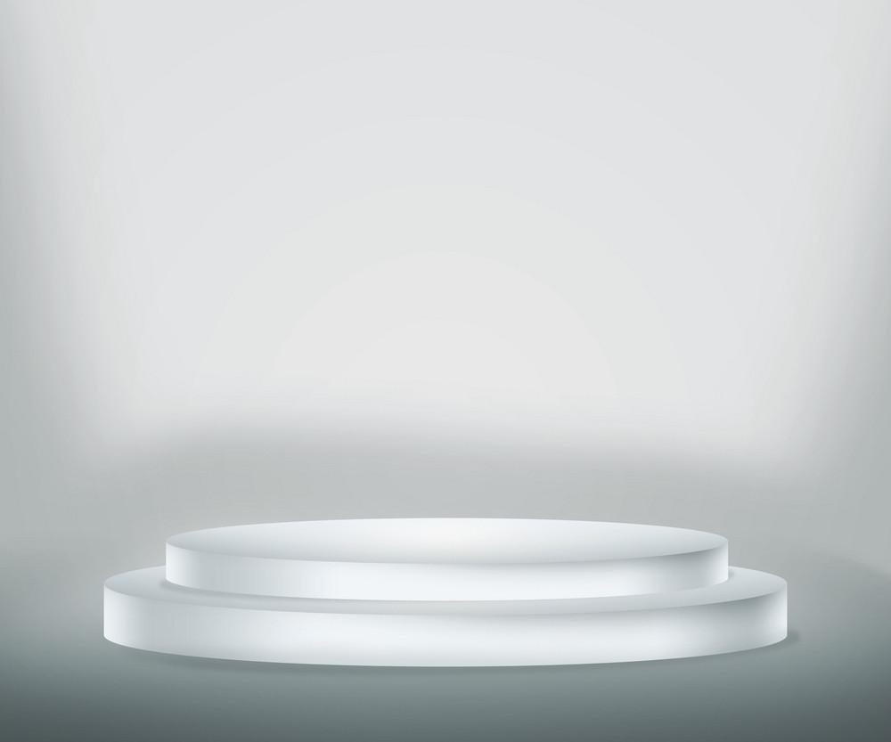 White Podium Background