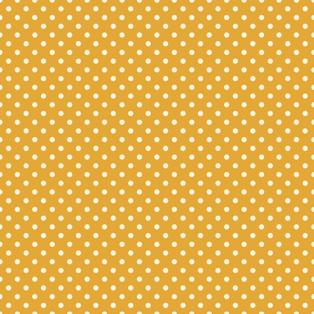 White Polka Dot Circus Pattern On A Yellow Background