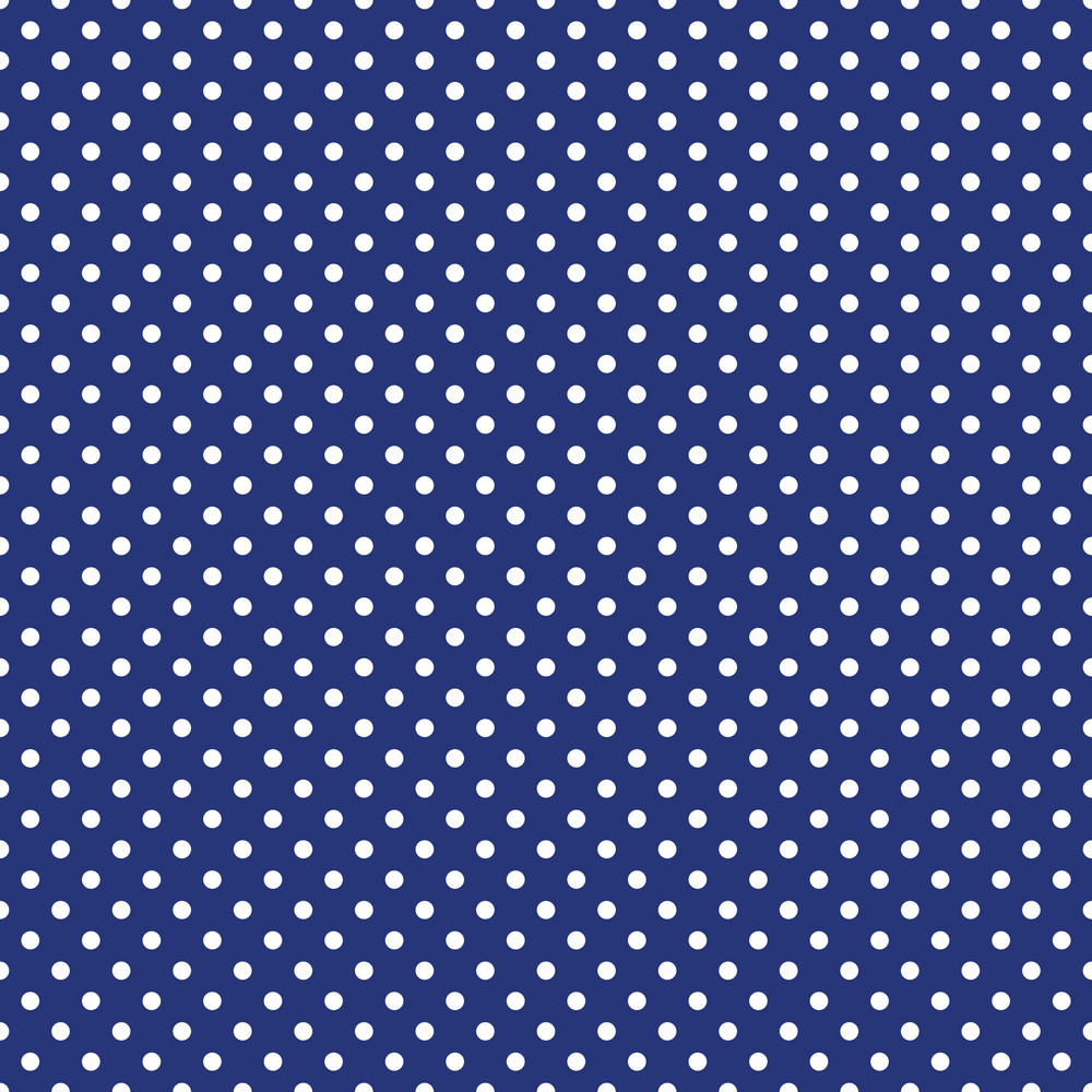 White Polka Dot Pattern On Blue England Paper