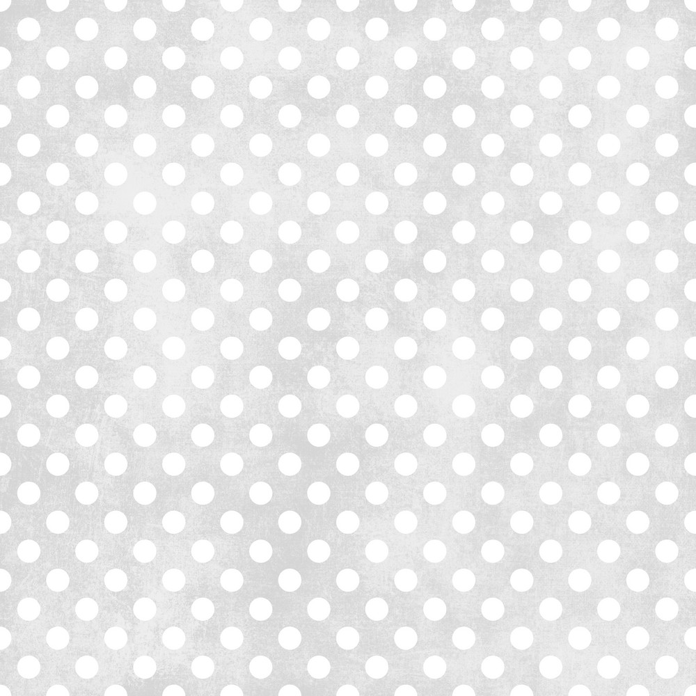 White Polka Dots Pattern On A Shabby Grey Background
